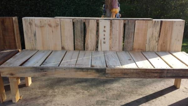 Pallet Faith Bench for Mission Pallet Benches, Pallet Chairs & Stools