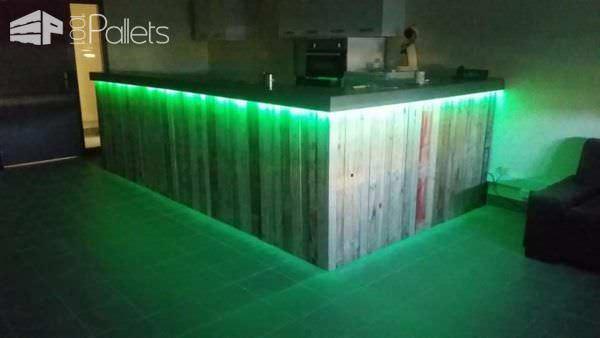Pallets Bar With Lights Pallet Bars