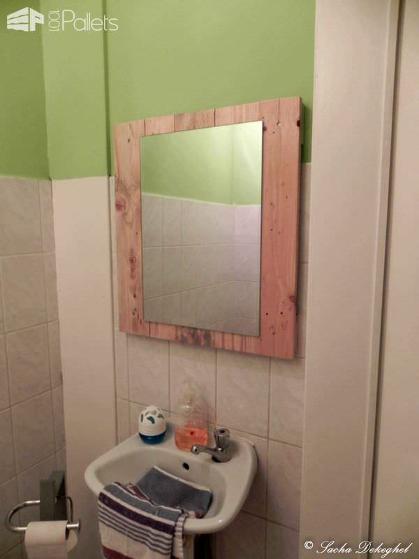 Support Mirroir / Pallet Mirror Pallet Wall Decor & Pallet Painting