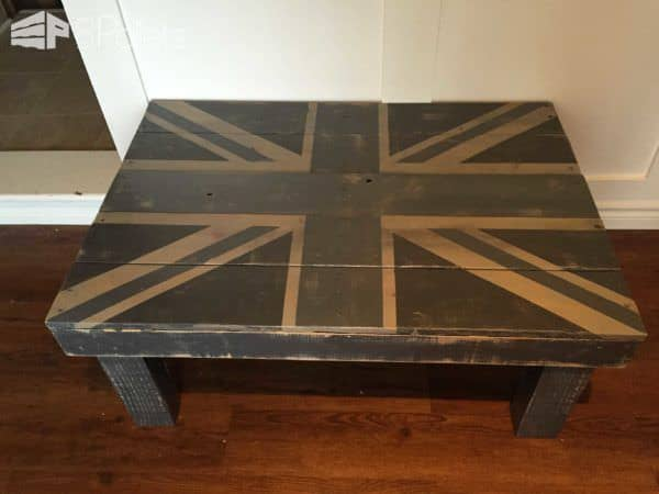 Union Jack Pallet Coffee Table Pallet Coffee Tables