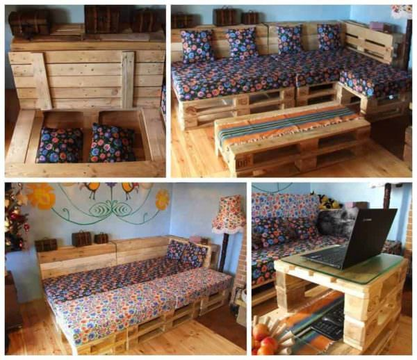 Can You Convert Your Pallet Lounge Into a Double Bed at Night ? Lounges & Garden Sets Pallet Sofas & Couches