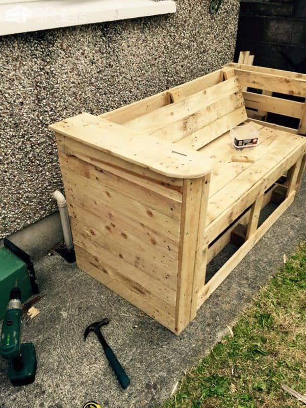 Garden Pallet Bench Lounges & Garden Sets Pallet Benches, Pallet Chairs & Stools
