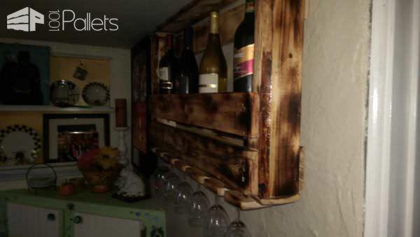 Need More Wine? Make a Wine Rack Pallet Shelves & Pallet Coat Hangers