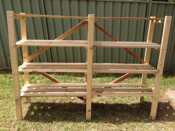 Pallet Shed Shelving Pallet Shelves & Pallet Coat Hangers