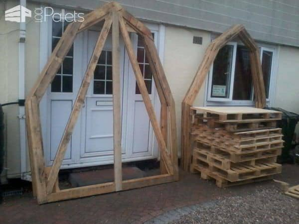 Pallet Workshop For Less Than 120$ Pallet Sheds, Cabins, Huts & Playhouses