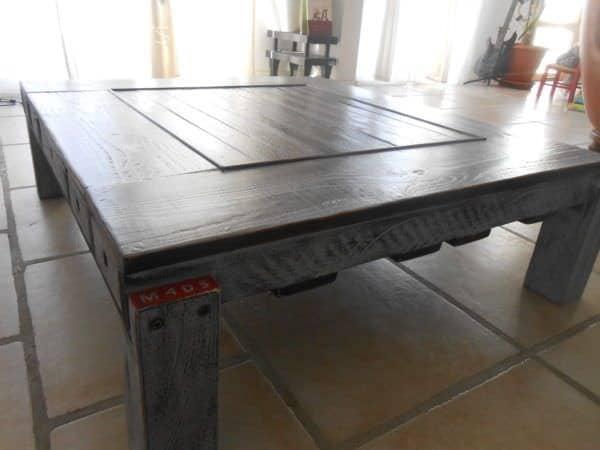 Table Basse Palette Et Pin Douglas / Pallet & Douglas Fir Coffee Table Pallet Coffee Tables