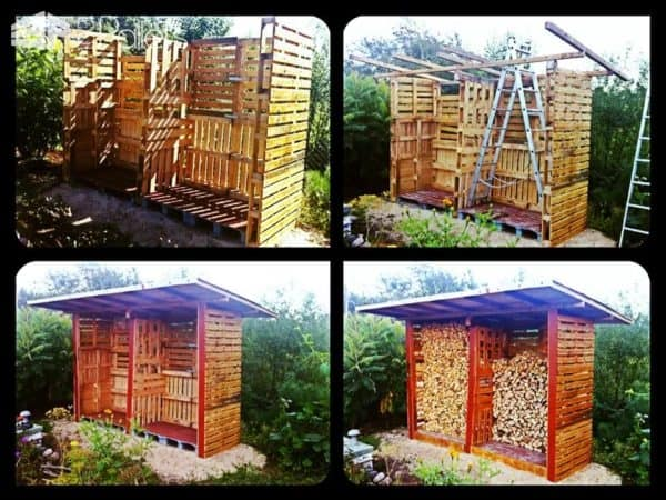 Top 10 Inspirations to Make Your Log Shed From Pallets Pallet Sheds, Cabins, Huts & Playhouses