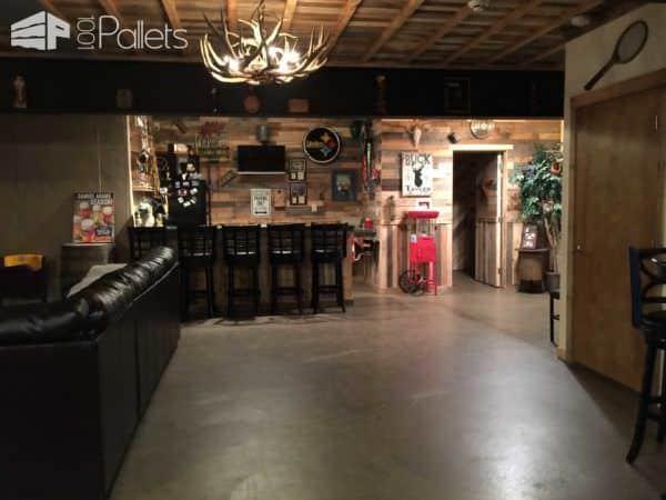 1000 Pallets Man Cave Pallet Ceilings & Roofs Pallet Furniture