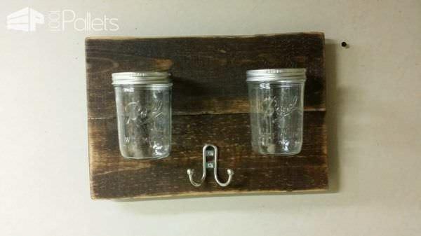 15$ Bathroom Organization with Pallets & Mason Jars Pallet Cabinets & Wardrobes