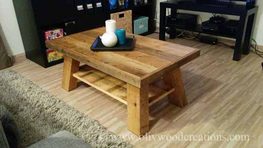 Coffee Table Made from Pallets / Table Basse En Bois De Palettes Pallet Coffee Tables