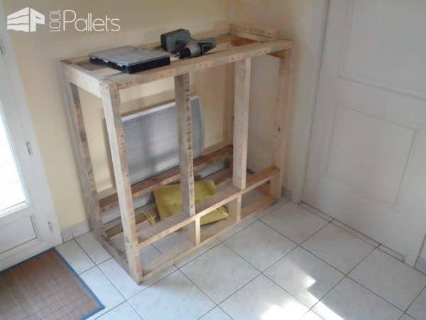 Meuble De Rangement / Pallet Enclosed Cabinet Pallet Cabinets & Wardrobes