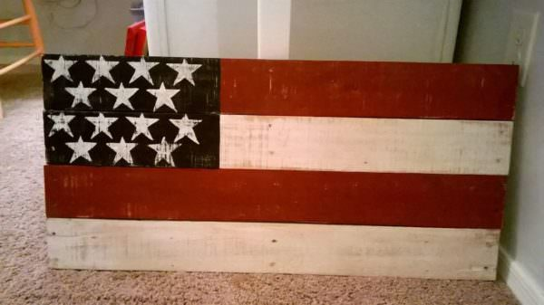 Pallet American Flag Pallet Wall Decor & Pallet Painting