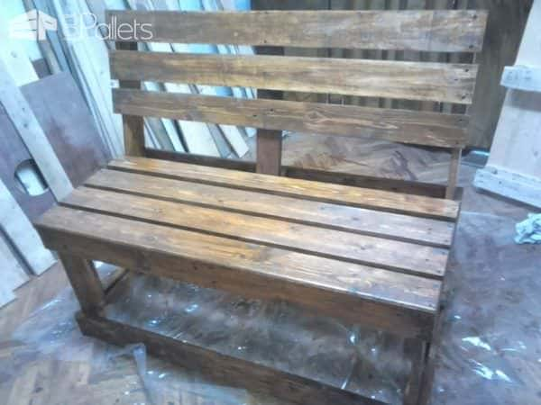 Diy: Bench from 2 Pallets Pallet Benches, Pallet Chairs & Stools