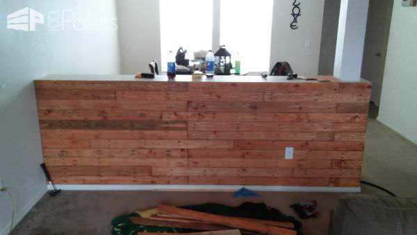 Pallet Half Wall Pallet Bars Pallet Walls & Pallet Doors