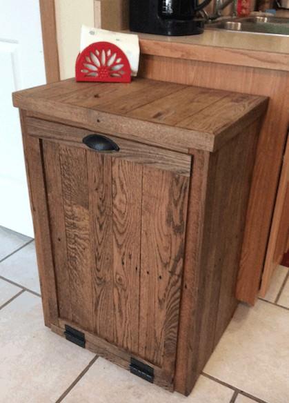 Pallet Oak Trash Cabinet Pallet Cabinets & Wardrobes