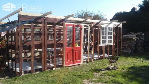 How I Made My Shed from 140 Pallets Pallet Bars Pallet Sheds, Cabins, Huts & Playhouses