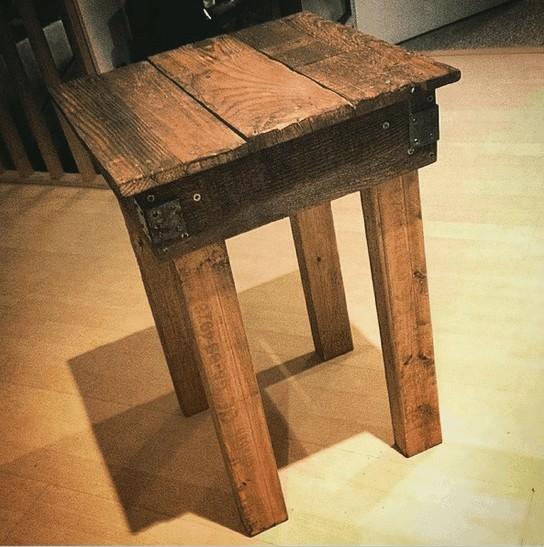 Just a Little Bedside Table Pallet Desks & Pallet Tables