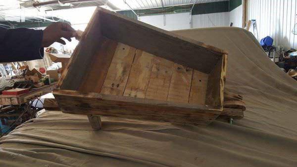 One Pallet Wheelbarrow Planter Pallet Planters & Compost Bins