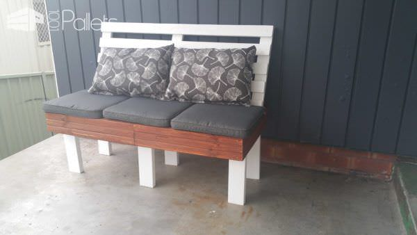 Outdoor Pallet Bench Seat Pallet Benches, Pallet Chairs & Stools