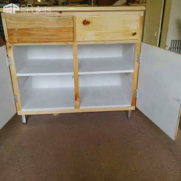 Pallet Cabinet From One Single Pallet Pallet Cabinets & Wardrobes