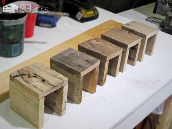 Pallet Wood Wall Mount Silverware Holder Pallet Home Décor Ideas