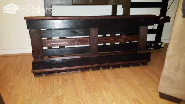 Wine Rack with One Pallet & Repurposed Wood Pallet Shelves & Pallet Coat Hangers