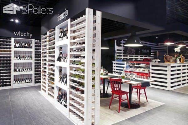 Wine Shop Architecture with a Pallet Twist Pallet Projects Pallet Store, Bar & Restaurant Decorations