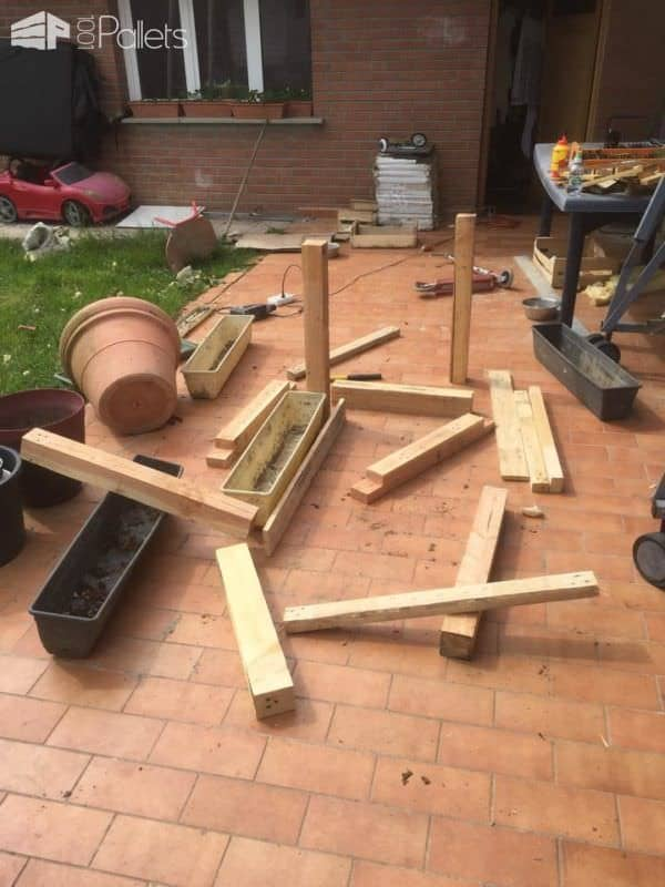 Diy: Pallet Stairs Planter Pallet Planters & Compost Bins