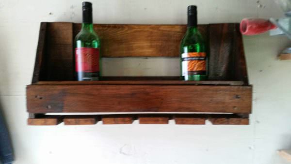Euro Pallet Wine Rack & Glasses Holder Pallet Bars