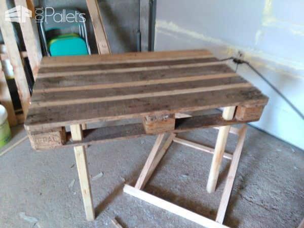 Garden Table from 1 Single Pallet Pallet Desks & Pallet Tables