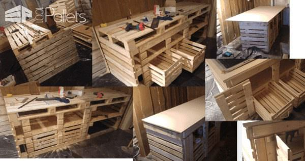 How I Made My Kitchen & Dining Area Out Of Recycled Pallets Pallet Projects