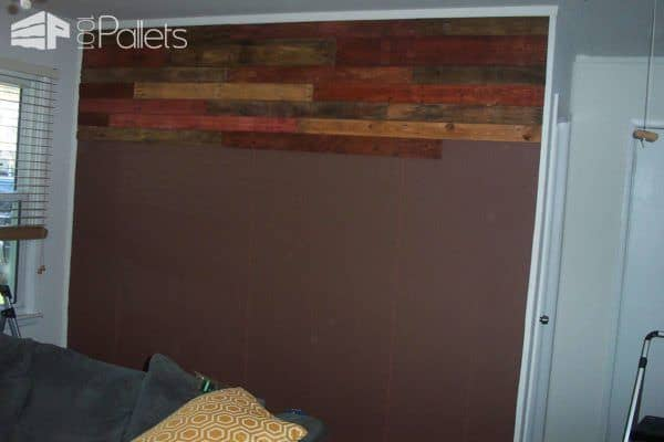 How I Made My Pallet Wall Pallet Walls & Pallet Doors