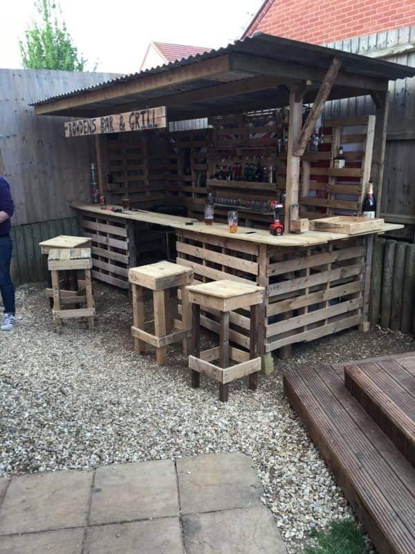 Making the Ultimate Garden Bar Using Pallets Pallet Bars
