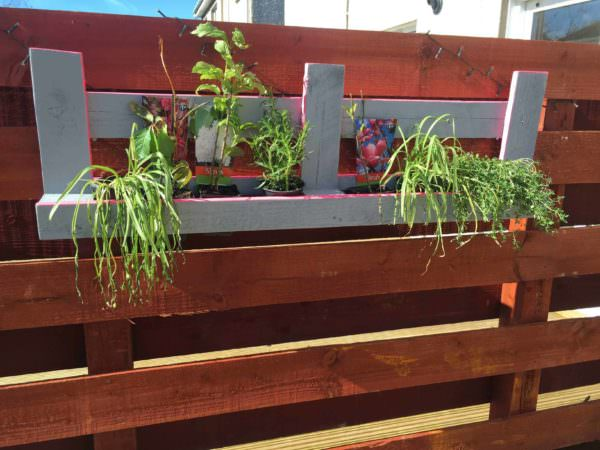My First Attempt for a Hanging Pallet Planter Pallet Planters & Compost Bins
