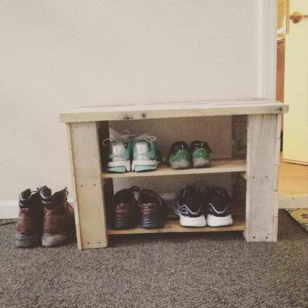 Pallet Shoe Bench Pallet Benches, Pallet Chairs & Stools Pallet Shelves & Pallet Coat Hangers