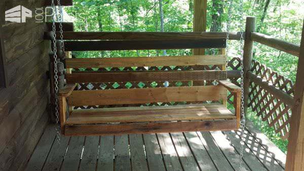 Porch Swing from Pallets Pallet Benches, Pallet Chairs & Stools