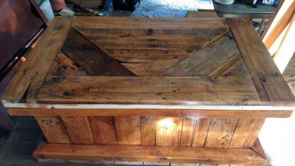 Rustic Pallet Blanket Chest Pallet Boxes & Chests