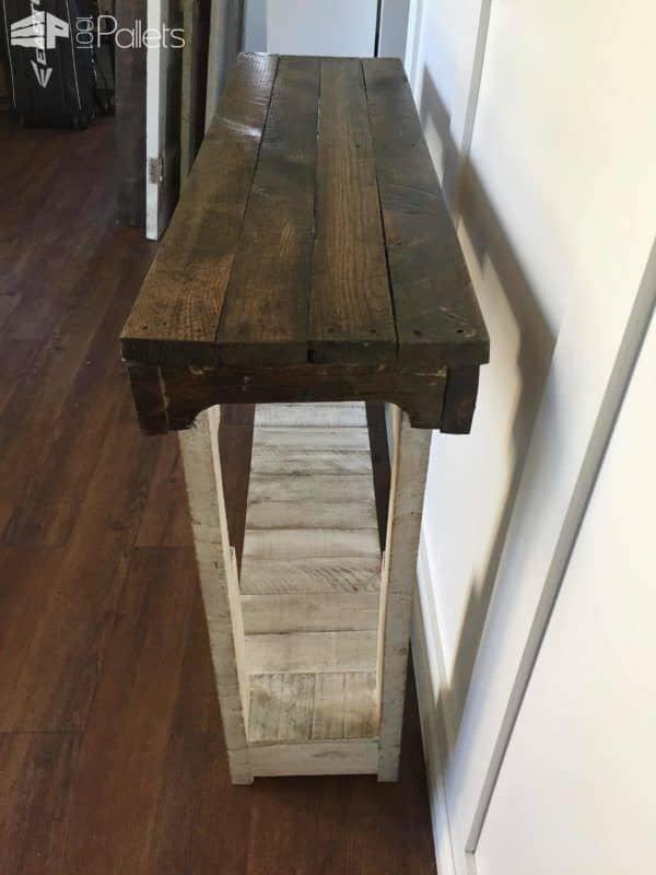 Rustic Pallet Sofa Table Pallet Desks & Pallet Tables