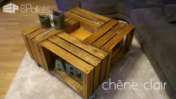 Tables En Caisses à Pommes / Apple Crates Into Coffee Table Pallet Coffee Tables
