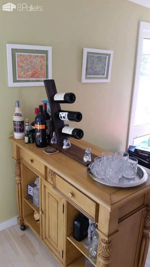 2 Hours Pallet Wine Rack Pallet Home Accessories