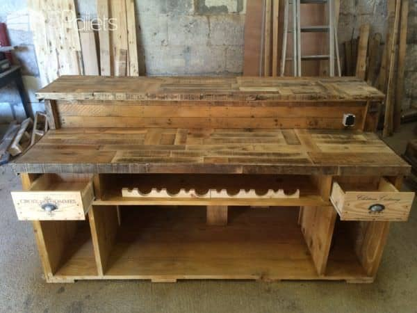 Amazing Bar From Pallet Wood Pallet Bars