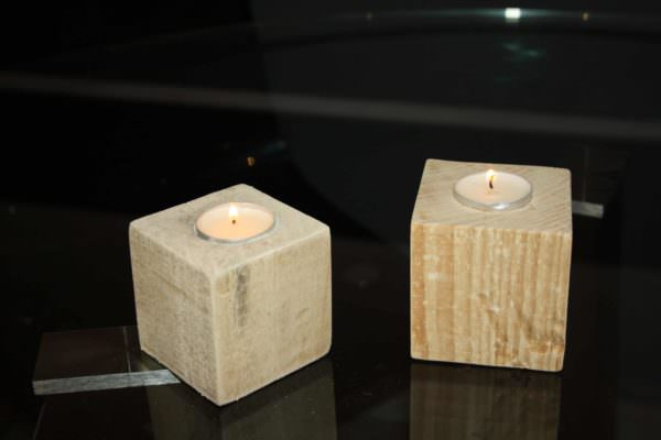 Pallet Blocks Into Candlesticks Pallet Candle Holders