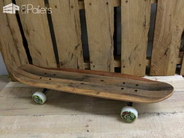 Discarded Pallet Wood Into Skateboard Other Pallet Projects