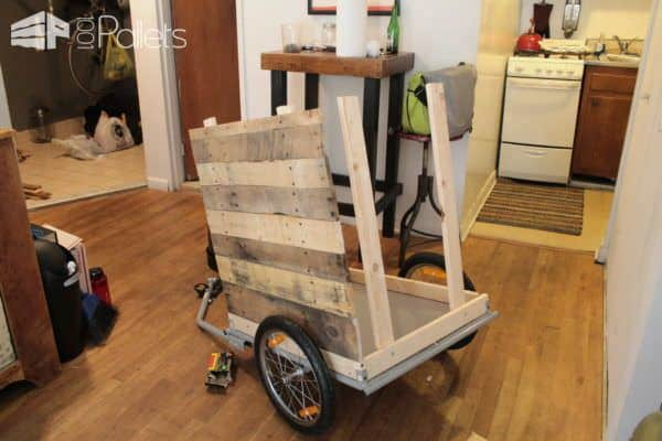 Diy Coffee Cart Made from Reclaimed Pallets in My Tiny N.y.c Appartment Pallet Bars Pallet Store, Bar & Restaurant Decorations Pallet Tutorials