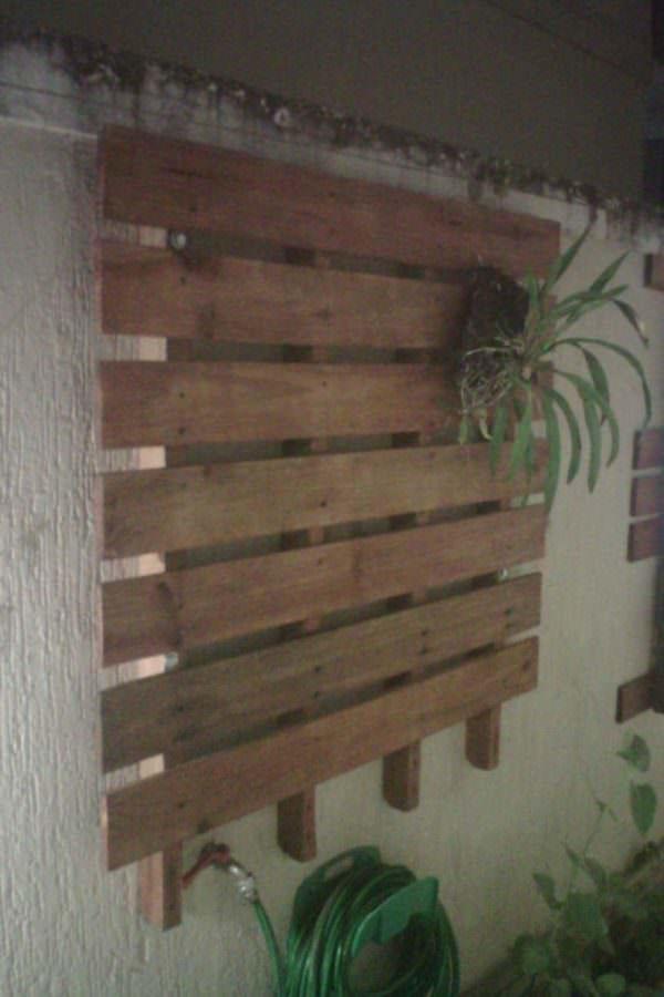 Jardim Vertical / Vertical Pallet Planters Pallet Planters & Compost Bins