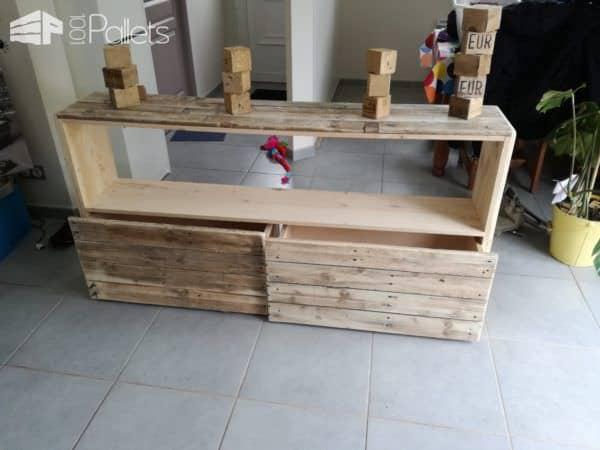 Meuble Chambre Enfant Pour Vêtements Ou Jouets / Kids Room Pallet Cabinet Pallet Cabinets & Wardrobes