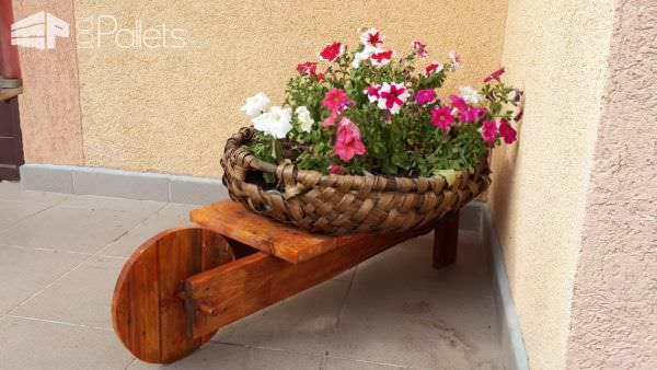 Mini Pallet Wheelbarrow Plant Stand Pallet Planters & Compost Bins