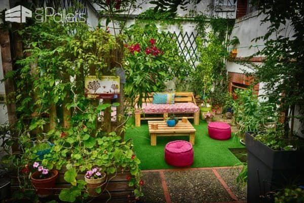 Mobilier De Jardin / Pallet Garden Furniture Lounges & Garden Sets