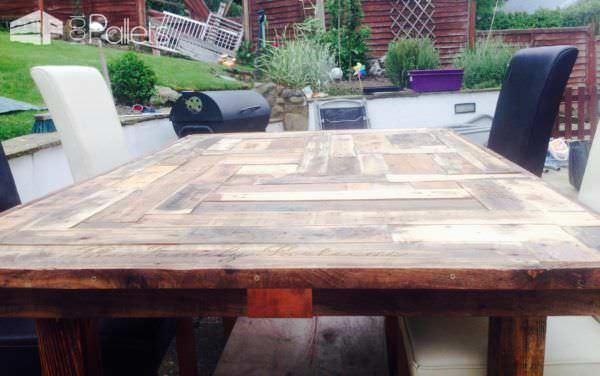 Mosaic Top Pallet Table Pallet Desks & Pallet Tables