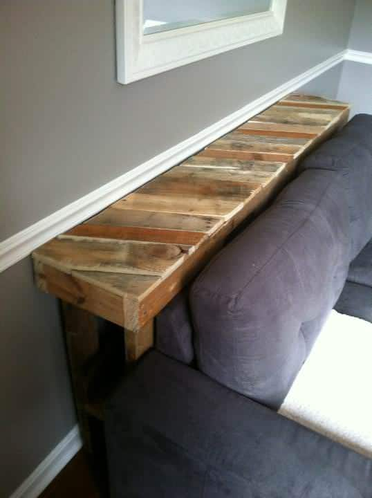 Narrow Pallet Couch Table Pallet Desks & Pallet Tables